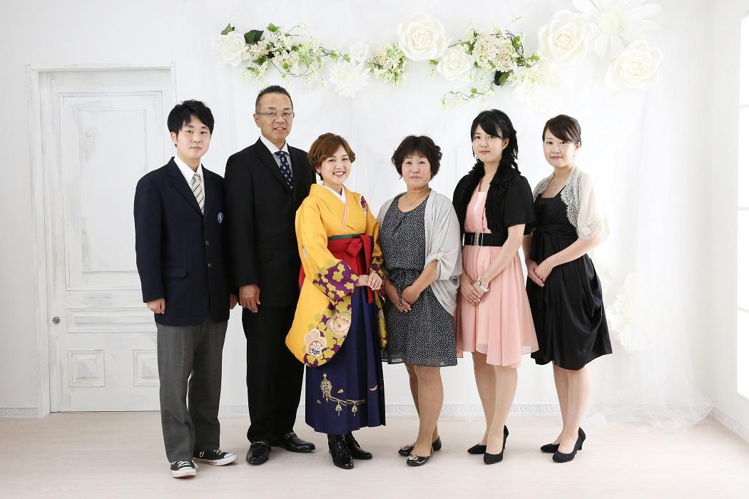 スタジオメルシー 卒業袴 家族撮影
