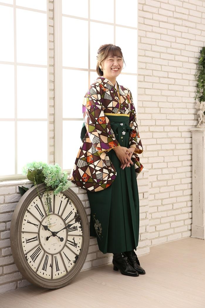 マリリンハウス 着物-420 ラフィモネカ/袴-222